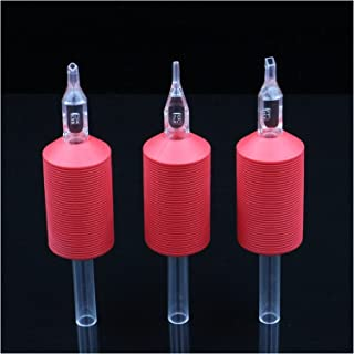 ZRNG 20 stks wegwerp tattoo grepen 25mm buis blauwe zachte siliconen tattoo grip transparante plastic buizen nauwkeurig co...
