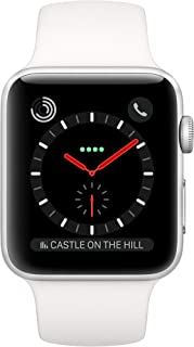 Apple Watch Series 3 42mm (GPS + Celular) - Caja De Acero Inoxidable En Plata / Blanca Correa Deportiva (Reacondicionado)
