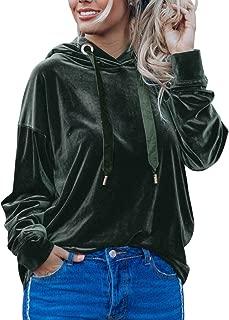 Women's Pullover Hoodie Warm Hooded Sweatshirts Velvet Velour Tracksuit Tops Long Sleeve Jumper Sweaters