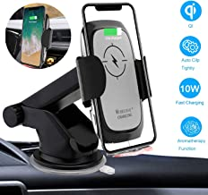 Wireless Car Charger Mount Auto-Clamping, 10W/7.5W Qi Fast Charging Windshield Dashboard Air Vent Phone Holder Aromatherapy Box Compatible with iPhone Xs MAX/XS/XR/X/8, Samsung S10/S10+/S9 by Onlyer