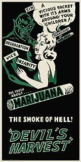 Culturenik Reefer Madness (Green) Vintage Poster Style Weed Marijuana Pot Novelty Drug Smoking Humor Print Poster (Unframed 12 x 24 Print)