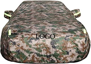XXchin Car Cover, with Logo Waterproof Summer and Winter Car Cover UV Protection Car Clothes to Fit BMW Camouflage (Size : E21)