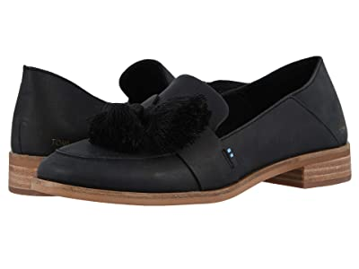 TOMS Estel (Black Leather) Women