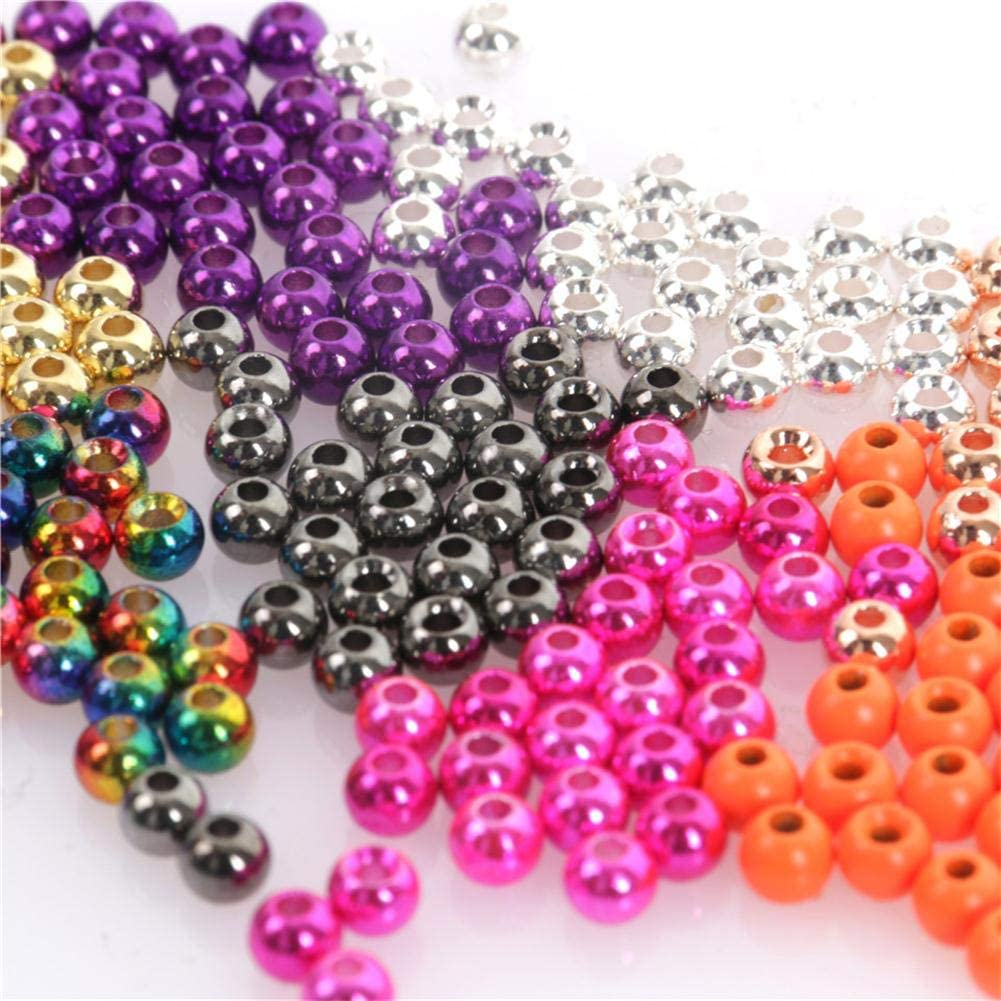 M MAXIMUMCATCH Maxcatch 100PC//LOT Tungsten Fly Tying Bead Head for Nymph Fly Fishing Ball Beads Materials 10 Colors