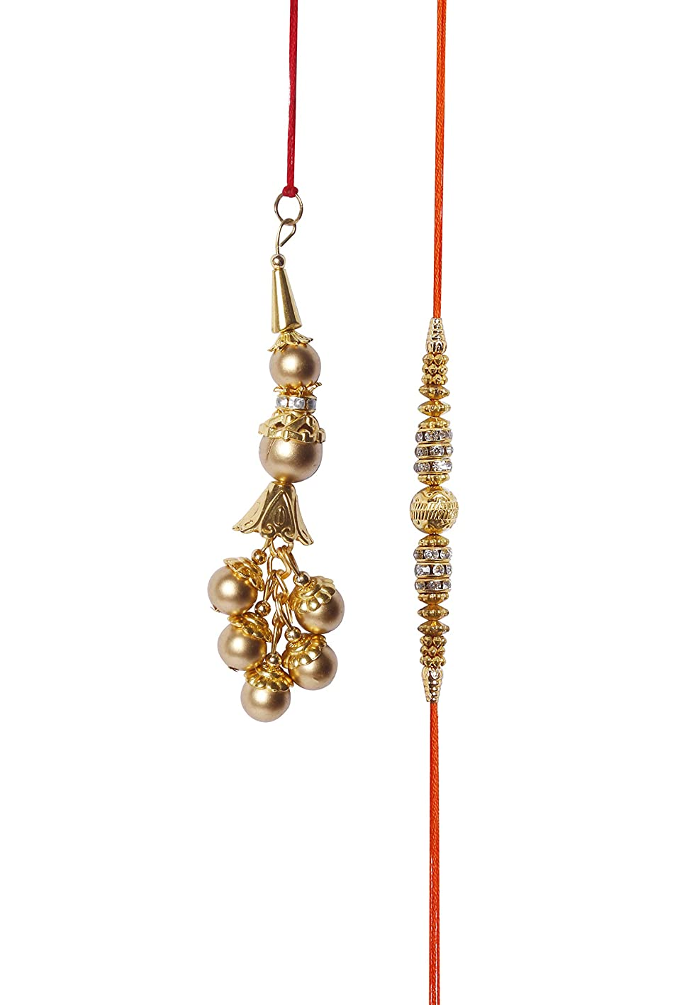 Lumba Rakhi for Bhayiya Bhabhi Raksha Bandhan Traditional Rakhi for Brother Indian Hindu Festival (Lumba Design 4) exgdbniwefn301