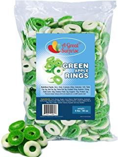 Gummy Rings - Gummy Rings Candy - Gummy Rings Bulk - Green Candy - Bulk Candy - 5 Pounds (Apple)