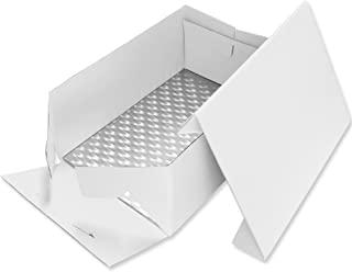 PME BCO895 Fond et Boîte à Gâteau Rectangulaires, Plastique, Blanc, 381 x 278 mm