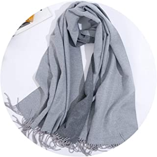 Double Sided Long Cashmere Winter Scarf Women Warm Kerchief Shawl