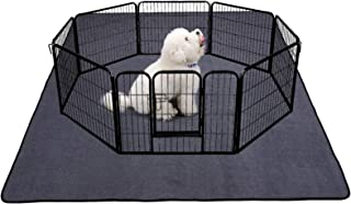 """Yistao Dog Pen Mat, Extra Large 72"""" x 72"""" Washable Puppy Pads Pee Pads for Dogs Non-Slip Waterproof Dog Mat for Floors Sup..."""
