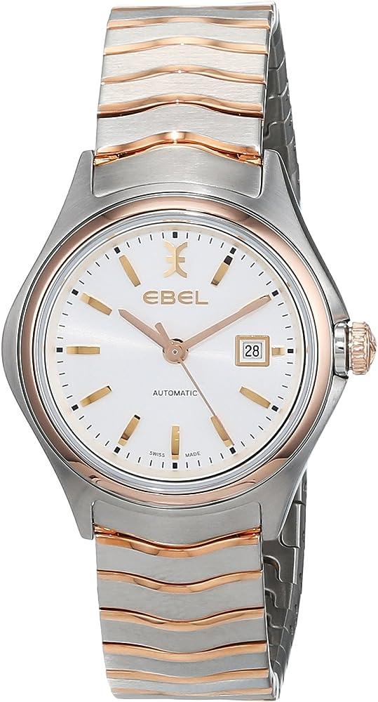 Ebel orologio da donna automatico lunetta e corona in oro rosso 18k quadrante argento galvanico 1216236