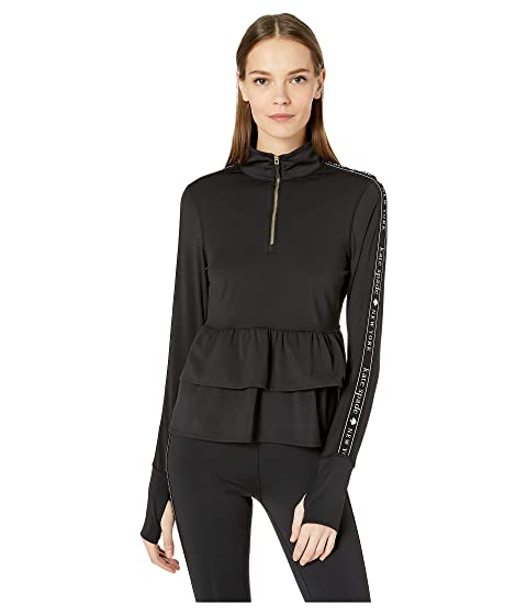 Kate Spade New York Athleisure Heart It Logo Ruffle 1/2 Zip