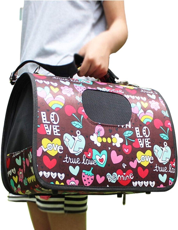 Kuqiqi Pet Bag, Cat Backpack, Shoulder Bag, Multiple Folding Bags, Best Gift, Fruit Heart latest models (Size   S)