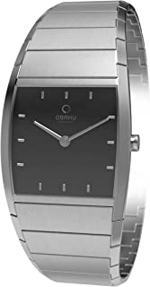 Obaku Women's Black Dial Leather Band Watch - V142Lcbsc, Analog Display