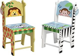 Fantasy Fields TD-0049A2 Sunny Safari Kids Hand Crafted & Hand Painted Wooden Chairs, 13