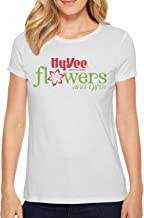 Hy-Vee Flowers by Rob Womens Short Sleeve T Shirts Crew Neck Fitness Skin-Friendly T-Shirts