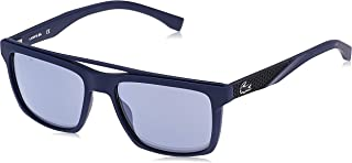Lacoste Men's Sunglasses Rectangular La Sport Inspired Blue Matte