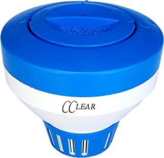 Cclear Pool Supply Chlorine Floater for Chlorine Tablets 3 inch, Premium Pool Chlorine Tablet Floater, Chlorine Dispenser, Floating Chlorinator, Chlorine Float, Chemical Holder Pool Supplies