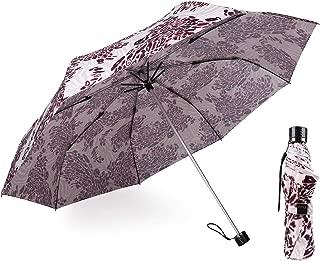 Kobold Compact Travel Sun Folding Umbrella UV Protection Light for Women Windproof Parasol Rain Umbrellas Pink Leopard Pattern