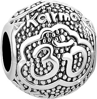 Q&Locket Karma Yoga Om Symbol Charm Love Sports Charms for Bracelets