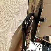"""27/"""" Support Design Professionnel Ajustable Ressort M/é canique Alliage d/' Aluminum-Noir SLYPNOS VM-GC12 Support Moniteur Support de Bureau pour Ecran PC de 15/"""""""