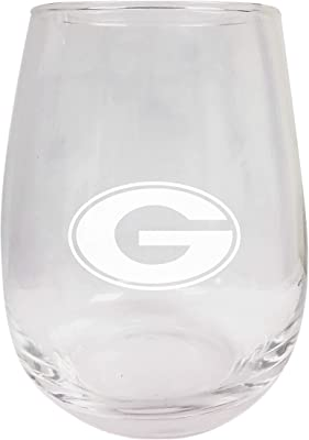 Grambling State Tigers Etched Stemless Wine Glass 9 oz 2-Pack