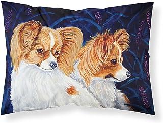 Caroline's Treasures 7241PILLOWCASE Papillion Moisture Wicking Fabric Standard Pillowcase, Large, Multicolor
