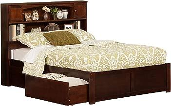 Atlantic Furniture Newport Platform Bed with 2 Urban Bed Drawers, Full, Walnut