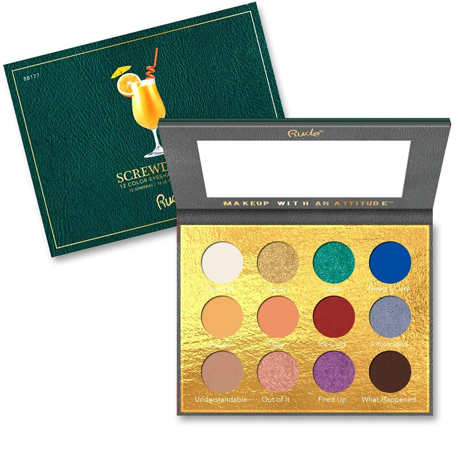 どれかイデオロギー名声RUDE? Cocktail Party 12 Color Eyeshadow Palette - Screwdriver (並行輸入品)