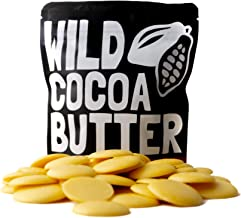 Raw Organic Cocoa Butter Wafers from Peru, Unrefined, Non-Deodorized, Food Grade, Keto, Plant-Based, Paleo, Vegan, For Cooking, Smoothies, Coffee, Skincare and Haircare (4 ounce)