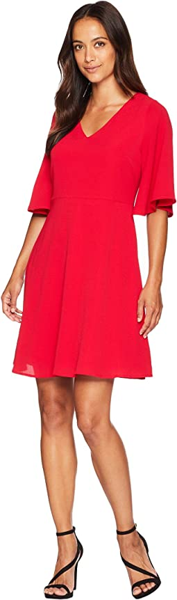 Catalina Crepe Fit & Flare Dress