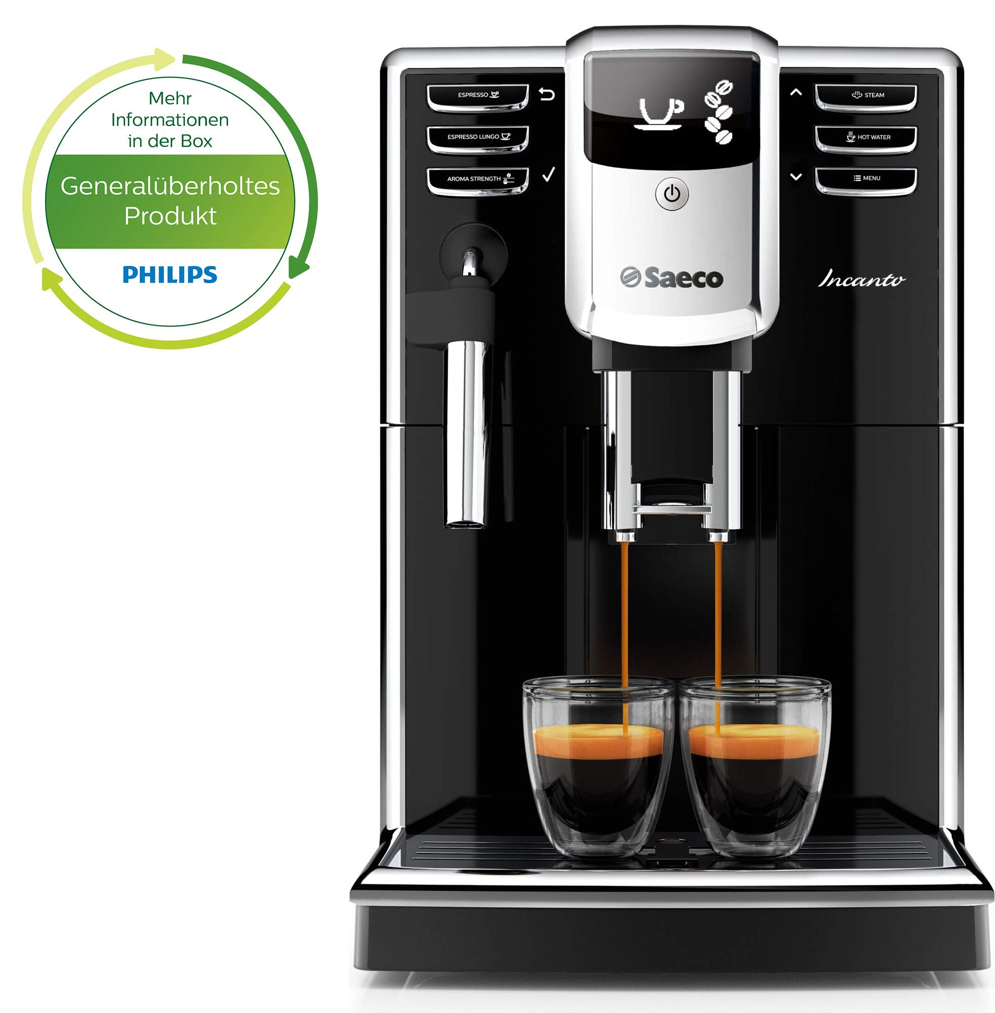 Saeco Incanto Cafetera HD8911/01 - Máquina de café espresso automática con pannarello, color negro: Amazon.es: Hogar
