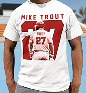 Mike-Trout 27 T-Shirt Los Angeles Baseball Angels Jersey Customized Handmade Hoodie/Sweater/Long Sleeve/Tank Top/Premium T-shirt