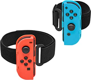Sports Strap for Nintendo Switch Ring Fit Adventure and Just Dance Joy-Cons Controller Game Accessories Kit, Adjustable El...