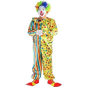 THEE Disfraz de Payaso de Halloween Clown Cosplay Costume: Amazon ...
