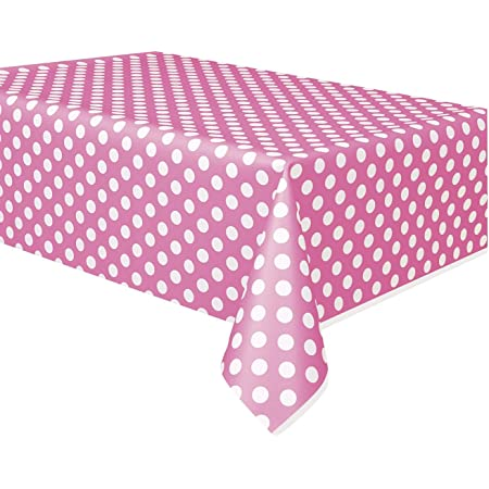 1PC Plastic Table Cover Cloth Wipe Clean Party Tablecloth Polka Dot ER6