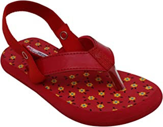D'chica Girl's Red Love Flip Flops for Toddlers