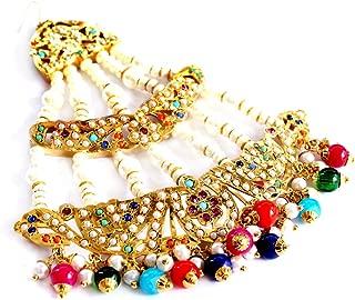 Glamorous Collection Bridal Wedding Jadau Punjabi Muslim Headpiece Head Passa Jhumar Jhoomer Jewelry