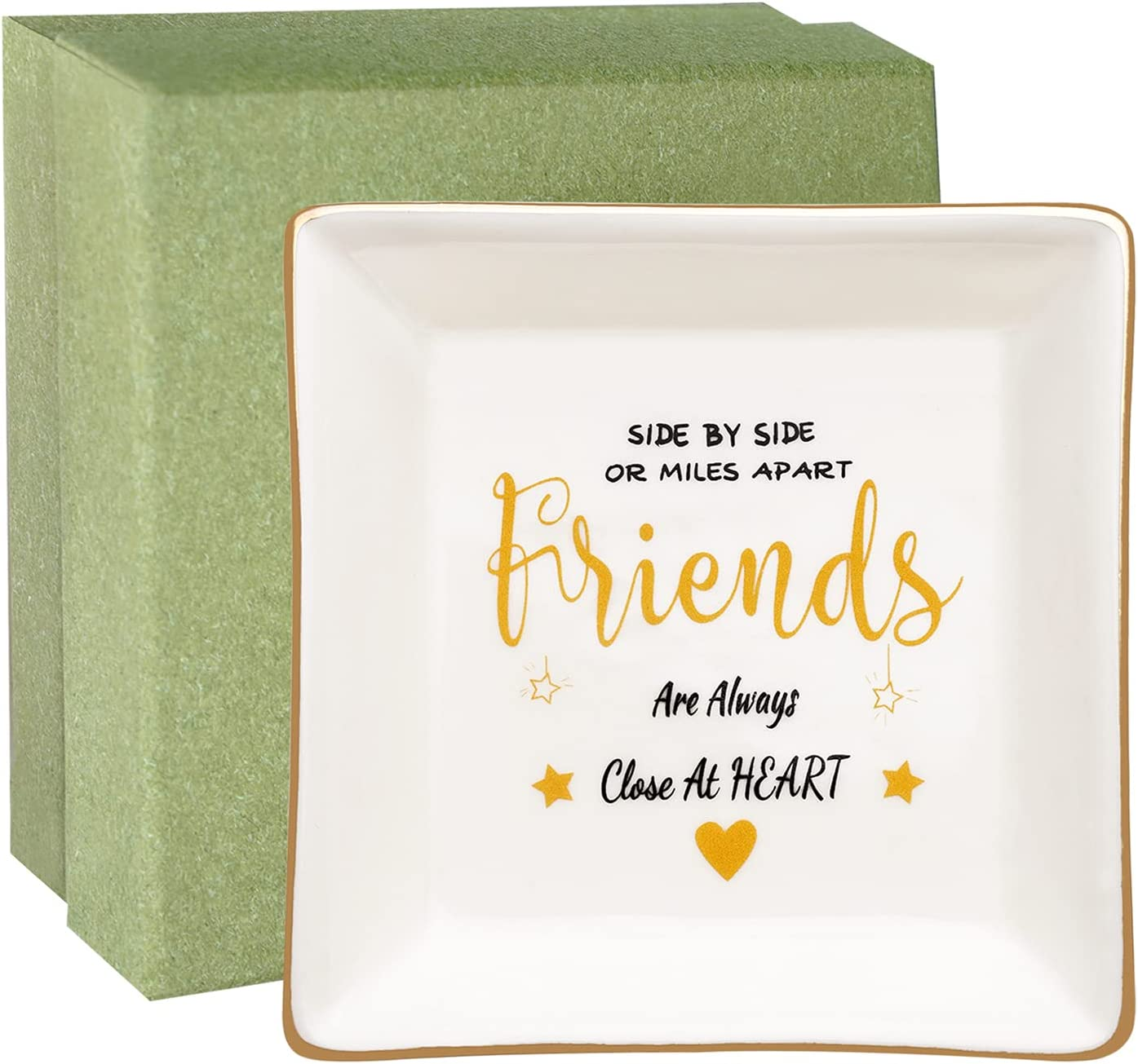 wartleves Friends Max 71% OFF Gifts Friendship for Luxury goods Ring Dish Sis Women