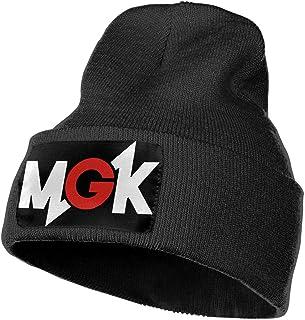 Leasan Mens & Womens Machine Gun Kelly Skull Beanie Hats Winter Knitted Caps Soft Warm Ski Hat Black