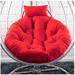 Egg Nest Chair Cushion With Ties,Thicken Chair Cushion,Waterproof Round Swing Chair Pads Chair Mat For Hanging Hammock