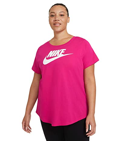 Nike Plus Size NSW Tee Essential Futura (Fireberry) Women