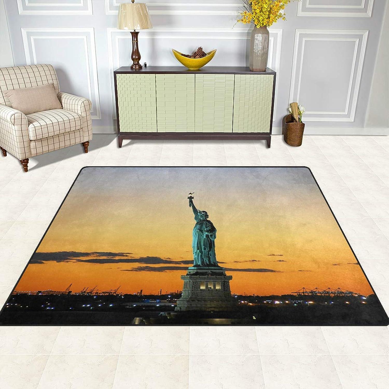 FAJRO Statue of Liberty Rugs for entryway Doormat Area Rug Multipattern Door Mat shoes Scraper Home Dec Anti-Slip Indoor Outdoor