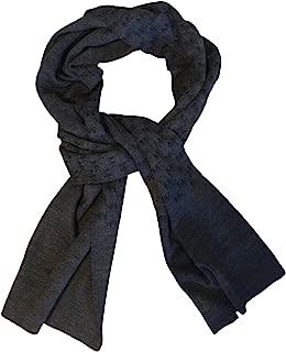 Michael Kors Mens Repeat Logo Jacquard Scarf, Grey/Blue