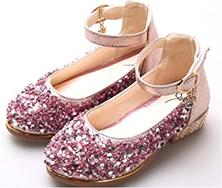 tomik Flower Children Little Girls Sequins Princess Dress Shoes for Girls Wedding and Party Dance Shoes