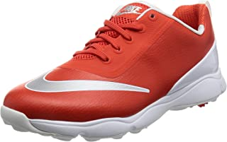 Control Junior Golf Shoes (2Y, Max Orange/Metallic Silver/White)