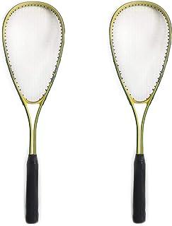 2er Set Rayline Sport Anfänger Squash Schläger SR005 Erwachsene Farbe Grün//Gelb