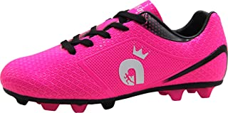 BomKinta Kid's FG Soccer Shoes Arch-Support Athletic Outdoor Soccer Cleats