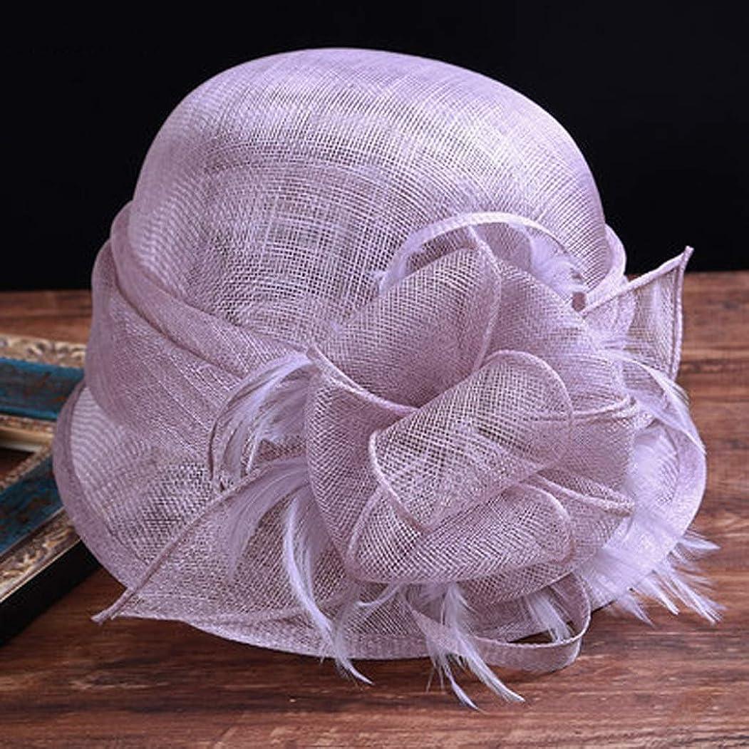 競合他社選手前件歪めるZFDM 旅行リネン帽子バイザー折りたたみワイドサイド通気性の漁師の帽子UV保護日曜日の帽子調節可能な旅行 (Color : Purple)