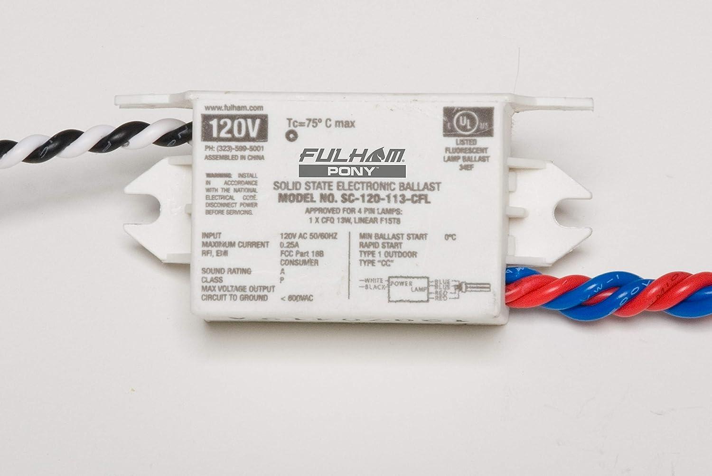 Fulham SC-120-113-CFL Pony Sugar Manufacturer regenerated product 120V Cube - Columbus Mall Ballast