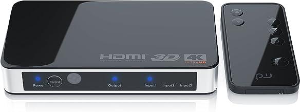 Primewire - Switch HDMI 2.0 4k 60Hz - Switch de 3 Puertos con Mando a Distancia - Ultra HD 4096x2160 - CEC - HDR - HDR - 3D Ready - HDCP - 48 bit Deep Color - Cambio automático - Dolby TrueHD